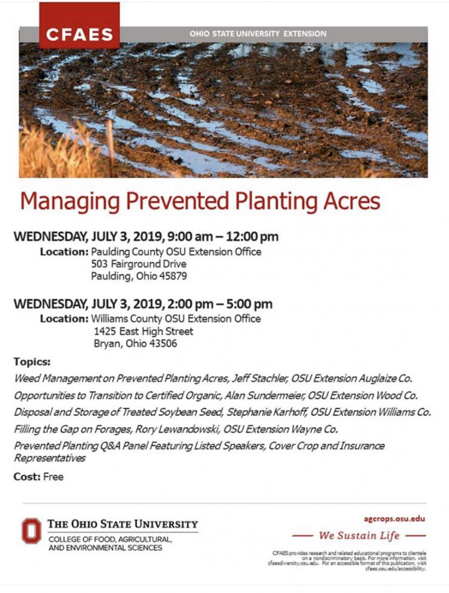 Managing Prevent Plant Acres