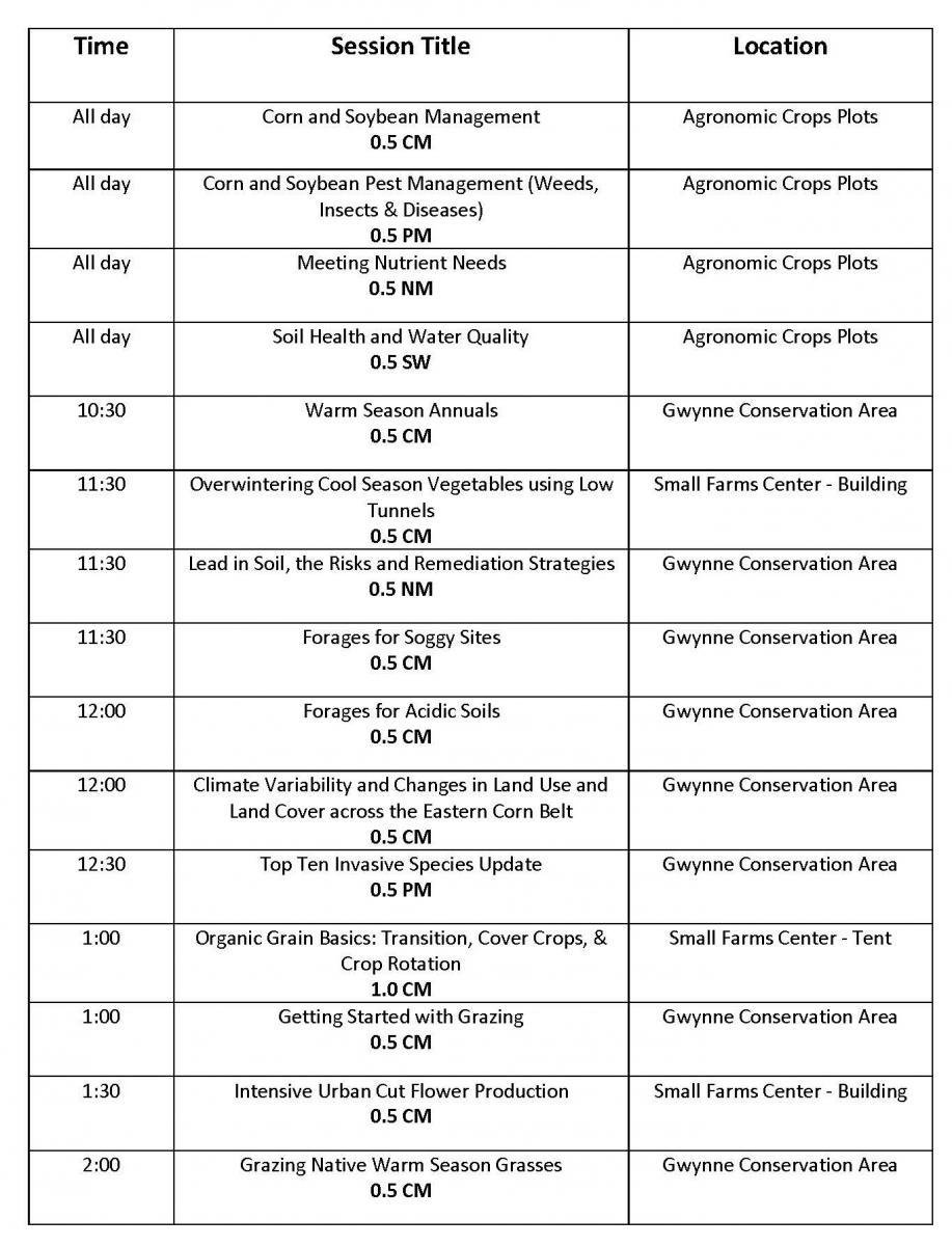 CCA Schedule - Tuesday