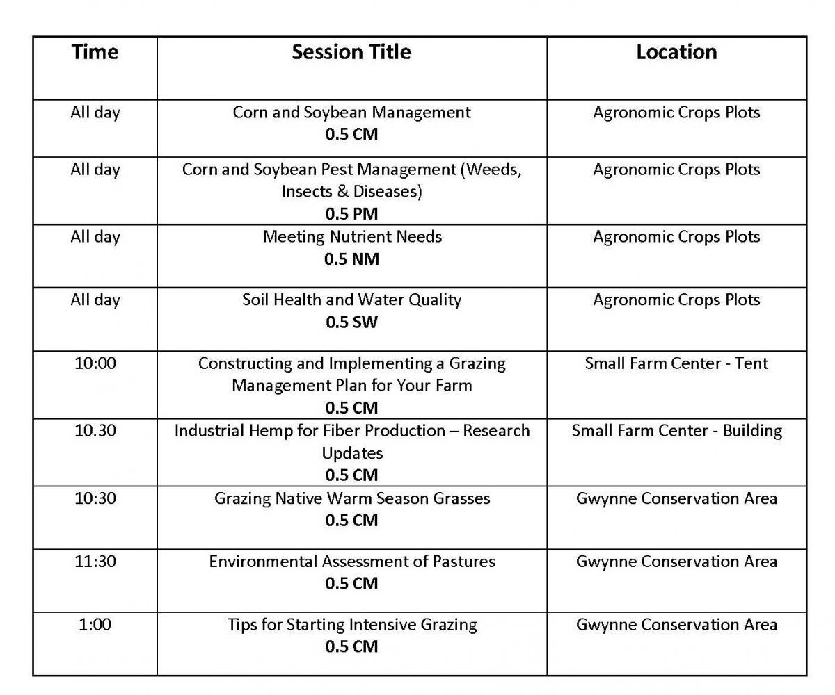 CCA Schedule - Wednesday
