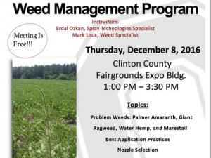 Weed Control Program Flyer