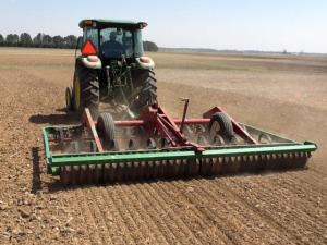 Preparing a firm seedbed for forages