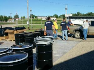 Man drops off agricultural pesticides at ODA Clean Sweep disposal event