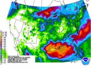 Figure 1. Weather Prediction Center 7-day precipitation forecast.