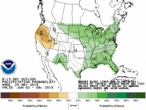 Precipitation Probability June 2-8, 2015