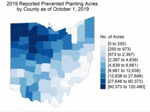 Ohio Prevent Plant Acres 2019
