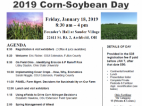 Last Week to Register for NW Ohio Corn-Soybean Day in Archbold on January 18