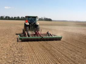 Firm Seedbed being prepared for forages