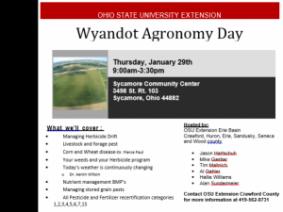 Wyandot Agronomy Day