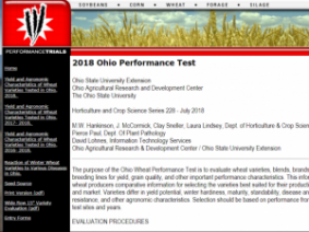 Wheat Performance Test